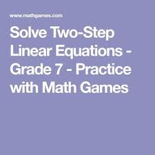 solve two step linear equations grade