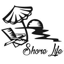 Shore Life Vinyl Sticker Decal Florida Beach Lily Salt Ocean Vinyl Stickers Sticker Vinylvinyl Decals Stickers Aliexpress