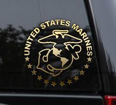 Marines Veteran Retired Custom Decal