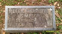 Effie Harrison Simpson (1869-1956) - Find A Grave Memorial