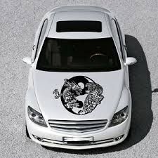Dragon Tiger Sign Yin And Yang Hood Car Vinyl Sticker Decals Graphics Sv3661 Ebay