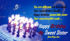 happy birthday my beautiful big younger and little sister wishes sms