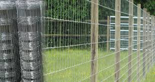 High Tensile Knotted Mesh Field Fencing Wire Hot Dip Galvanized