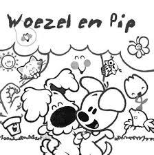 Woezel En Pip Kleurplaat Kleurplaten Hondjes Kleuren