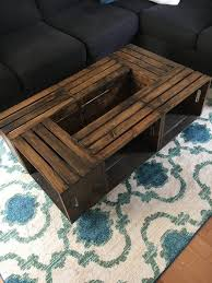 rustic pallet style wooden crate coffee