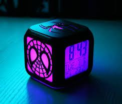 2019 Spiderman Digital Usb Led Light Alarm Clock 7 Colors Xmas Gifts Kids Room For Sale Online