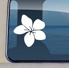 Amazon Com Aloha Maui Creations Plumeria Flower Decal 33 Vinyl Hawaiian Sticker 4 5 By 4 5 Inch Automotive