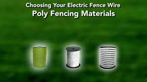 Electric Fence Wire Buying Guide Youtube
