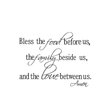 christian wall stickers bless the food family love quotes wall