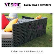 metal frame rattan lounge furniture