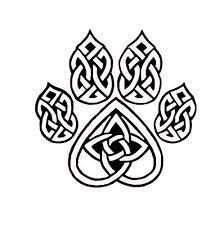 Amazon Com Celtic Knot Wolf Paw Decal Celtic Knot Sticker Eternity Knot Vinyl Decal Handmade