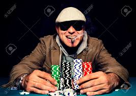 Happy Poker Face On The Man.selective Focus On The Man Head Stock Photo,  Picture And Royalty Free Image. Image 27727793.