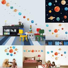 Mystic Planets Wall Sticker Solar System Space Wall Decal Kids Room Art Decor Ebay