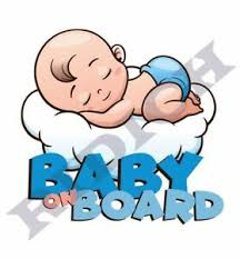 Baby On Board Sticker Vinyl Decal Baby Boy Sleeping Ebay