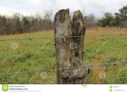 Old Fence Post Stock Photo Image Of Tree Landscape 64286850