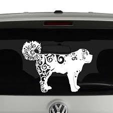 St Bernard Lovers Mandala Puppy Vinyl Decal Sticker