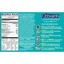 nutrisystem cinnamon roll calories