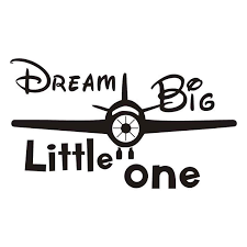 Cartoon Airplane Vinyl Wall Stickers Dream Big Little One Quotes Wall Decals Boy Nursery Decal Removalbe Decor Baby Room Za514 Decoration Baby Room Baby Roomquote Wall Decal Aliexpress