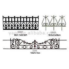 cast iron garden edging and fences