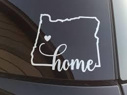 Oregon Home Window Decal Oregon Silhouette Decal Sticker Car Window Decal Wall Sticker Labtop Decal Vinyl Art I Window Decals Car Window Decals Car Decals