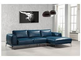 blue bonded leather sectional sofa