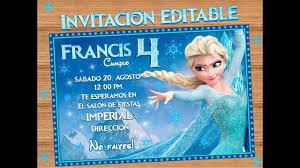 Invitacion Editable E Imprimible Inspirada En La Princesa Elsa De