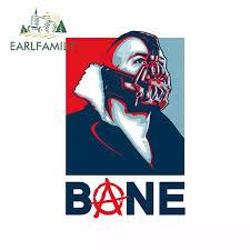 Earlfamily 13cm X 12 9cm Bane Vinyl Car Decal Sticker Batman Villian Funny Comic Dc Anarchy Skate Board Car Accessories Car Stickers Aliexpress