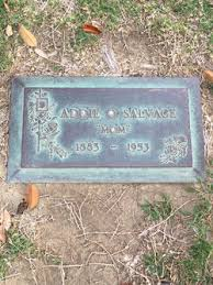 Addie Olive Marshall Salvage (1883-1953) - Find A Grave Memorial