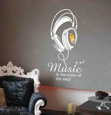 Mix Decor Letter Wall Decal Music Sign Wall Sticker Office Livingroom Kid Baby Nursery Room Decoration Wall Art Vinyl Decals Stickers Quotes And Sayings Decor 19 7x38 6 Inch Black Gold Room Decor Wall Decor