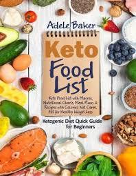 Keto Food List : Adele Baker : 9781703684094
