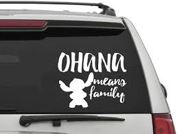 Amazon Com Yingkai Ohana Stitch Means Family Car Decal Vinyl Wall Decal Sticker Vinyl Lettering Removable Decal For Car Laptop Decoration Home Kitchen