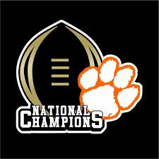 Clemson National Champs Decal Tigers Football National Champs Decal Clemson Tiger Decal Clemson Tiger Sticker Clemson Wallpaper National Champs Clemson