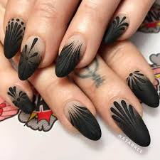 50 dramatic black acrylic nail designs