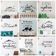 Artistic Mountains Adventure Vinyl Wall Decals Home Decor For Living Room Bedrrom Kids Room Nature Decor Mural Poster Wish
