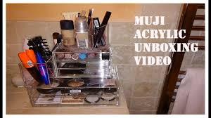 muji uk acrylic makeup storage unboxing