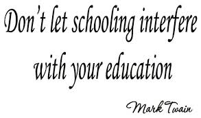Vwaq Don T Let Schooling Interfere With Your Education Mark Twain Wall Decal Contemporary Wall Decals By Vwaq Vinyl Wall Art Quotes And Prints