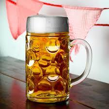 german beer stein glass 2 pint 1 4 ltr