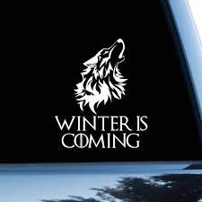 Amazon Com Game Of Thrones Car Sticker Starks Car Decal Dire Wolf Symbol Bumper Sticker Logo Bumper Decal Window Sticker Vinyl Stark Sigil Head Automotive