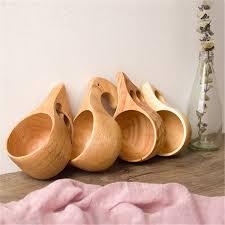handmade portable wood coffee mug or