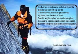 √ caption puisi pendaki cantik kata kata r tis
