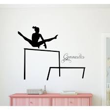 Ebern Designs Gymnast Gymnastics And Uneven Bars Vinyl Wall Decal Wayfair