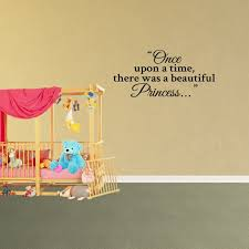 Wall Decal Quote Once Upon A Time There Was A Beautiful Princess Decor Nursery Vinyl Sticker Jp824 Walmart Com Walmart Com