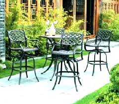 aluminum patio furniture bar height