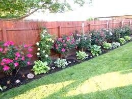 landscaping along fence ideas the