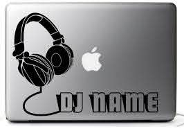 Customized Sticker Decal Headphones Dj Set Black For Etsy