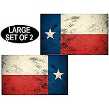 American Vinyl Vintage Texas Flag Sticker Old Look Star Distressed Tx Yexan Bumper Stickers Decals Magnets