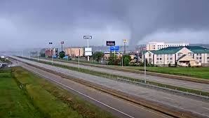 tornado ripping through Arkansas ...