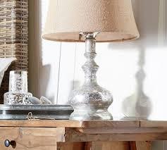 mercury glass table lamp base pottery