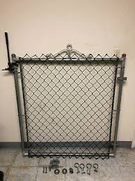 Chain Link Fence Gate 4 Ft X 4 Ft Rust Resistant Galvanized Metal W Hardware Ebay