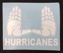 Amazon Com Miami Hurricanes Block U Hands White Vinyl Car Decal New Gift Handmade